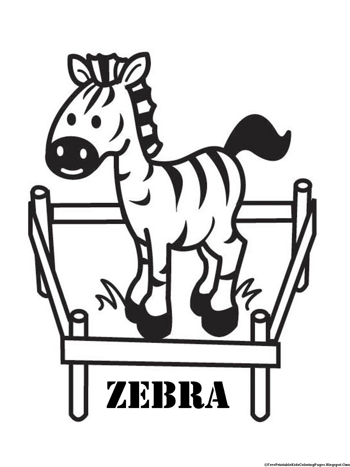 Baby Zebra Coloring Kids Zebra Coloring Pages