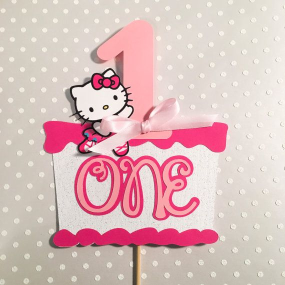 Hello Kitty Cake Topper Hello Kitty by PresentsFromTheHeart