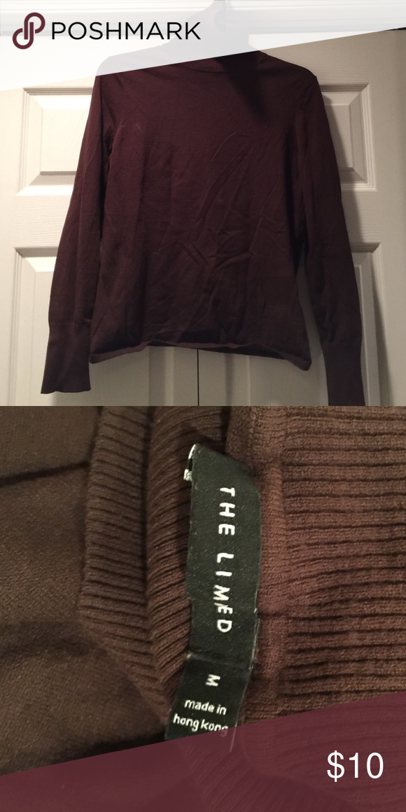 Brown turtleneck sweater Brown The Limited, turtleneck sweater ...