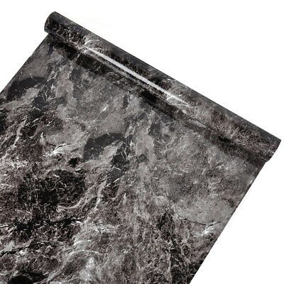 Details about Black Marble Wallpaper Self Adhesive Kitchen
