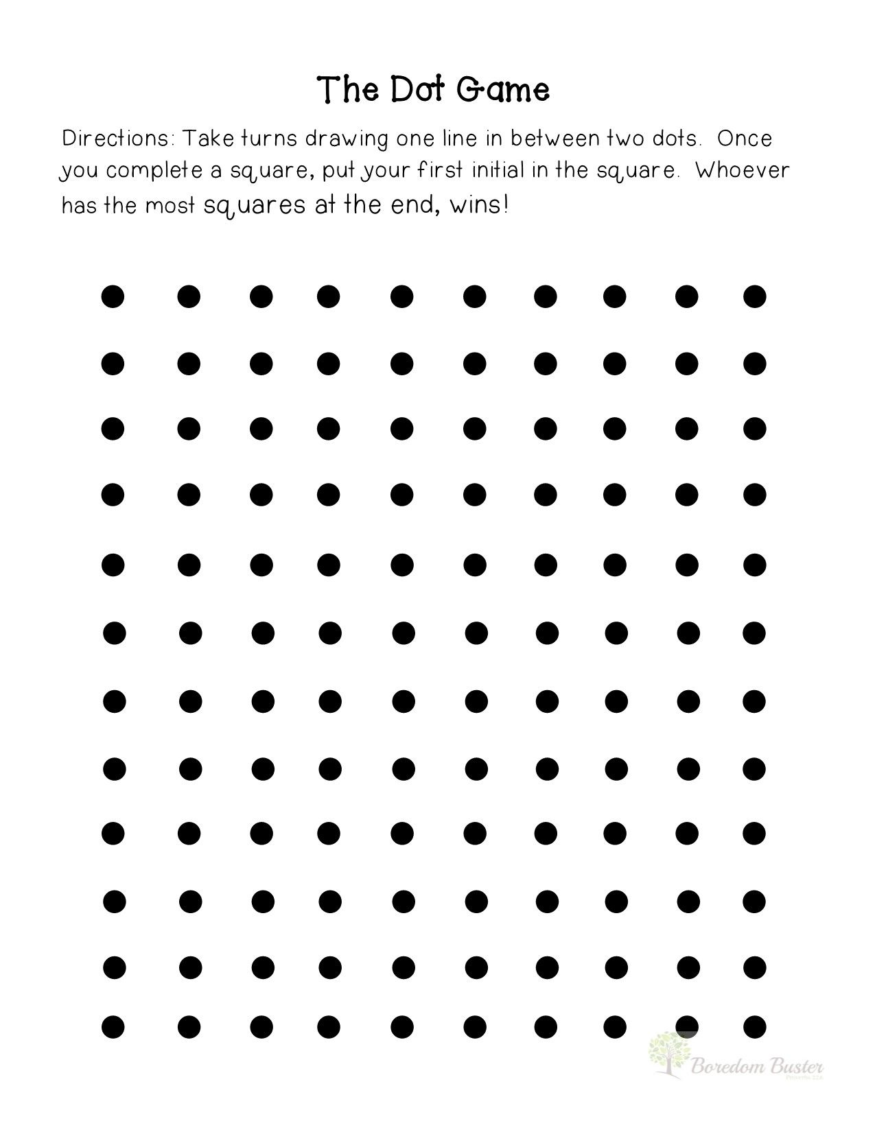 Printable Dot Game That Are Satisfactory