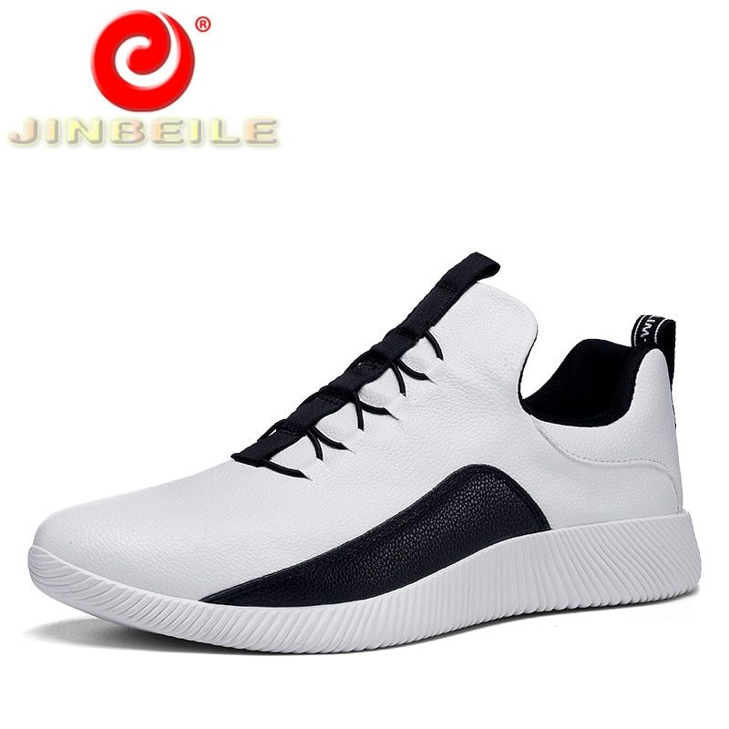 size 40 43bf3 b776e JINBEILE Soft Lace-up Running Shoes Men Waterproof Lightweight Athletic  Jogging Shoes Men Trainer High
