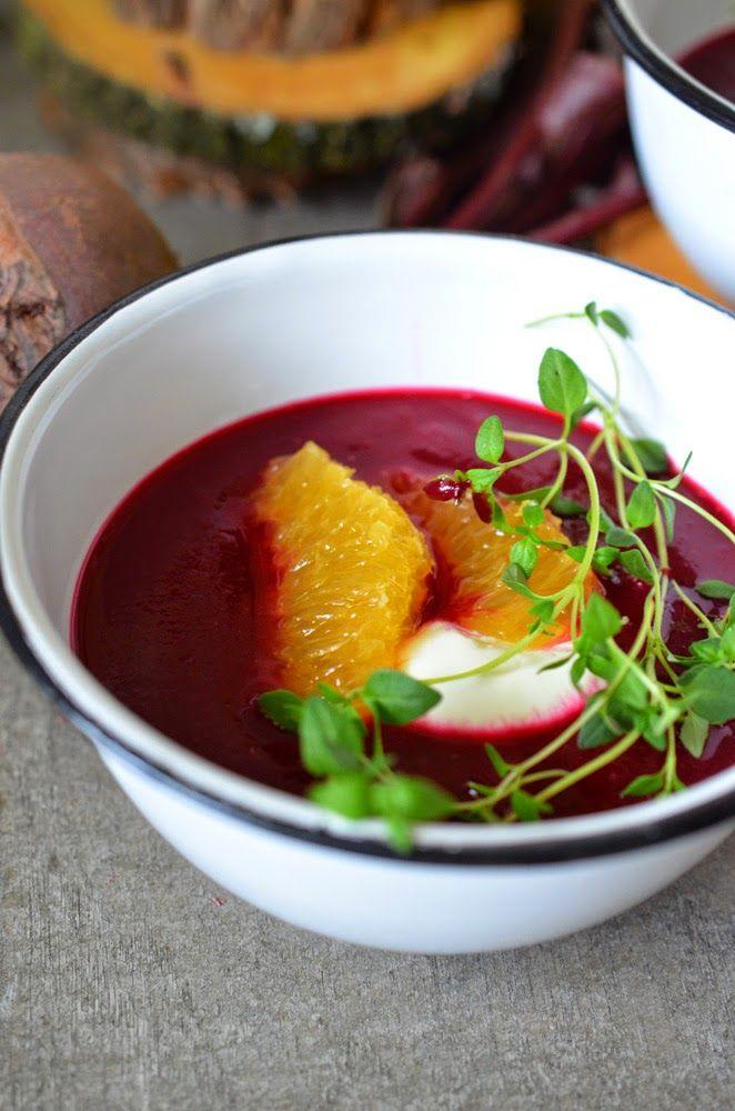 Rote-Bete-Orangen-Suppe