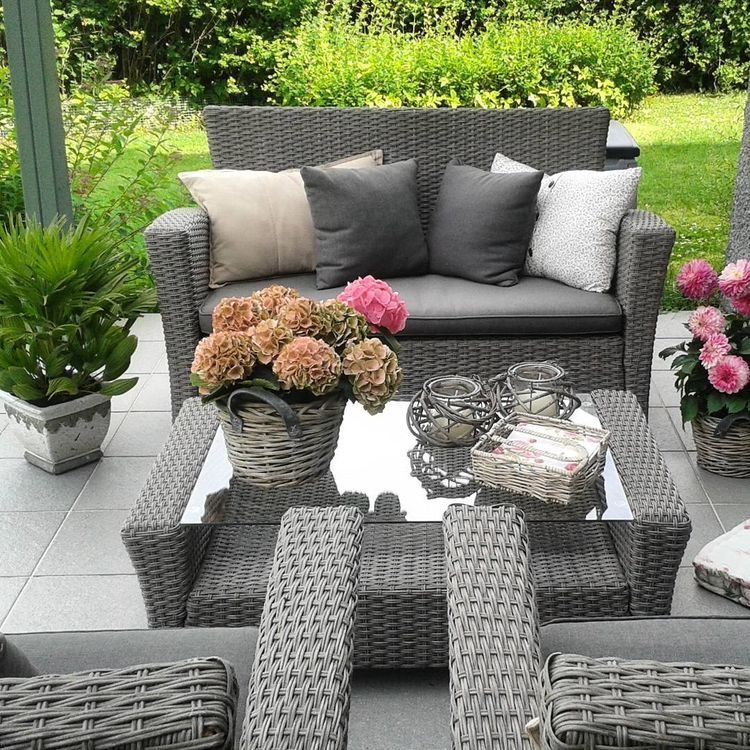 Pin By ƥ Sℓ On Outdoor Decorations Garden Sofa Patio Decor Backyard Decor