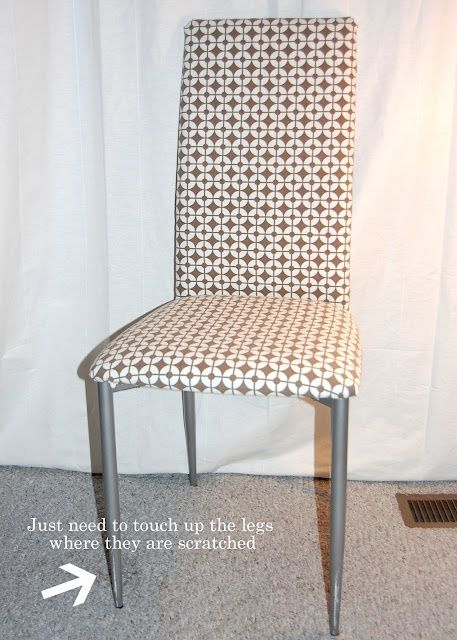 DIY No Sew Chair Cover