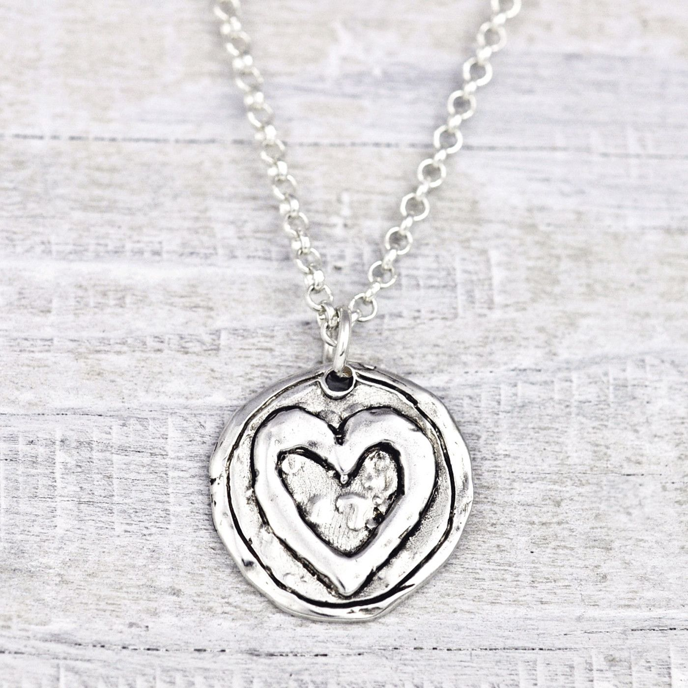 Listen With A Brave Heart Necklace From Island Cowgirl