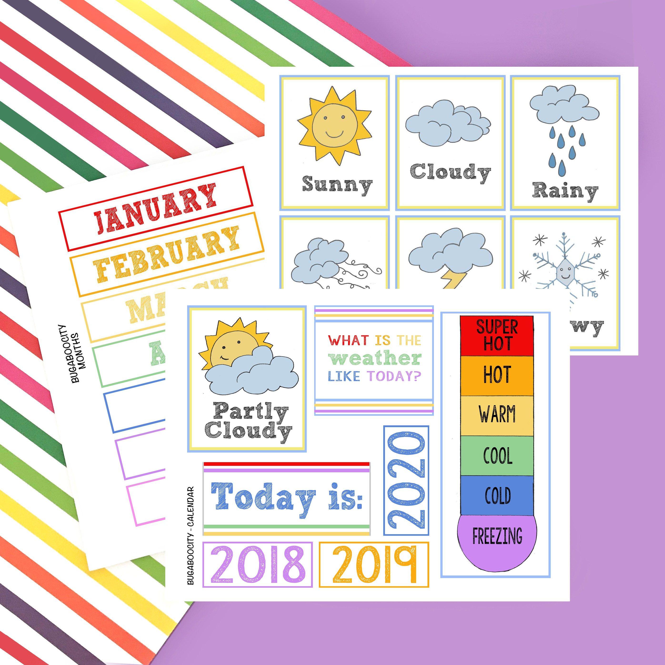DIY Children's Calendar by | Preschool calendar, Kids ...