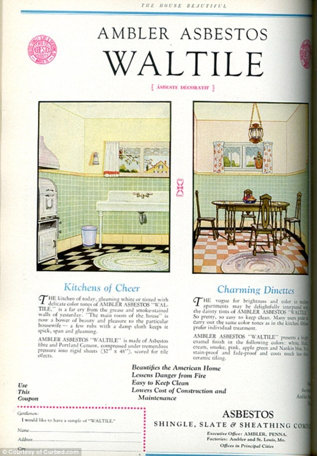 Fancy Beautiful Carpets And Genuine Asbestos Wall Tile Vintage House Beautiful Ads Reveal Decorating Trends From The Past 80 Years Asbestos