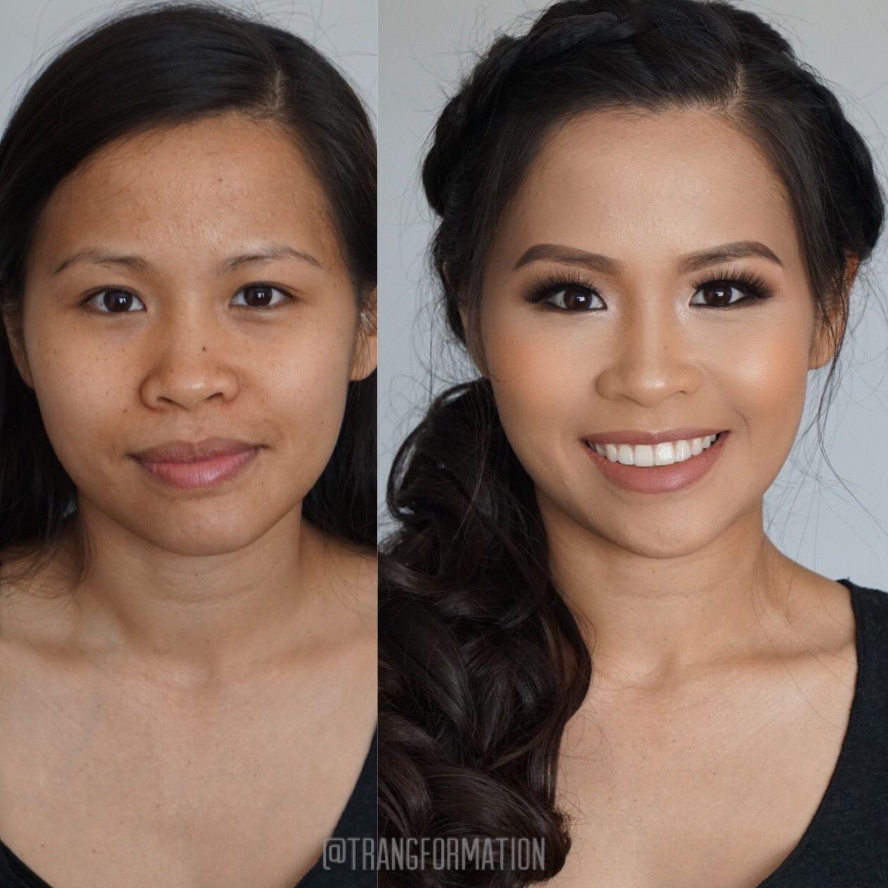 makeup, bridal makeup, asian makeup, natural makeup, before