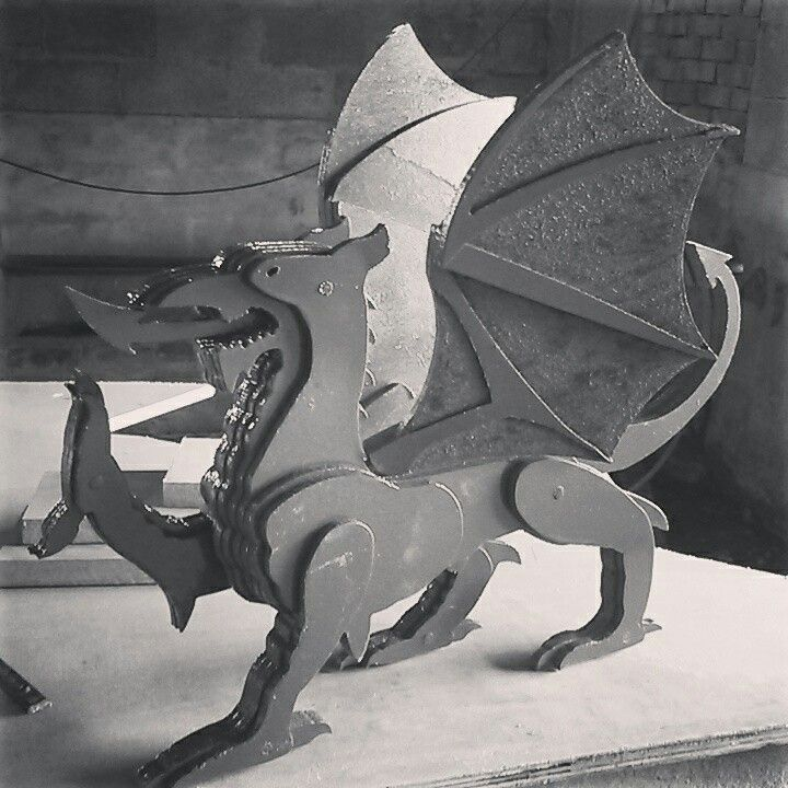 Welsh dragon completed at www.rusticsolutions.co.uk