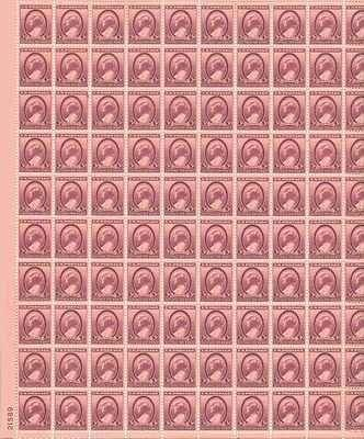 Susan B AnthonyWomens Suffrage Sheet Of 100 X 3 Cent US Postage Stamps Scot