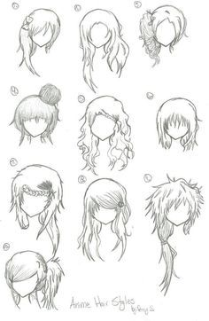 drawing stuff drawing board drawing tips drawing reference hair ...  Drawing Hair For Beginners