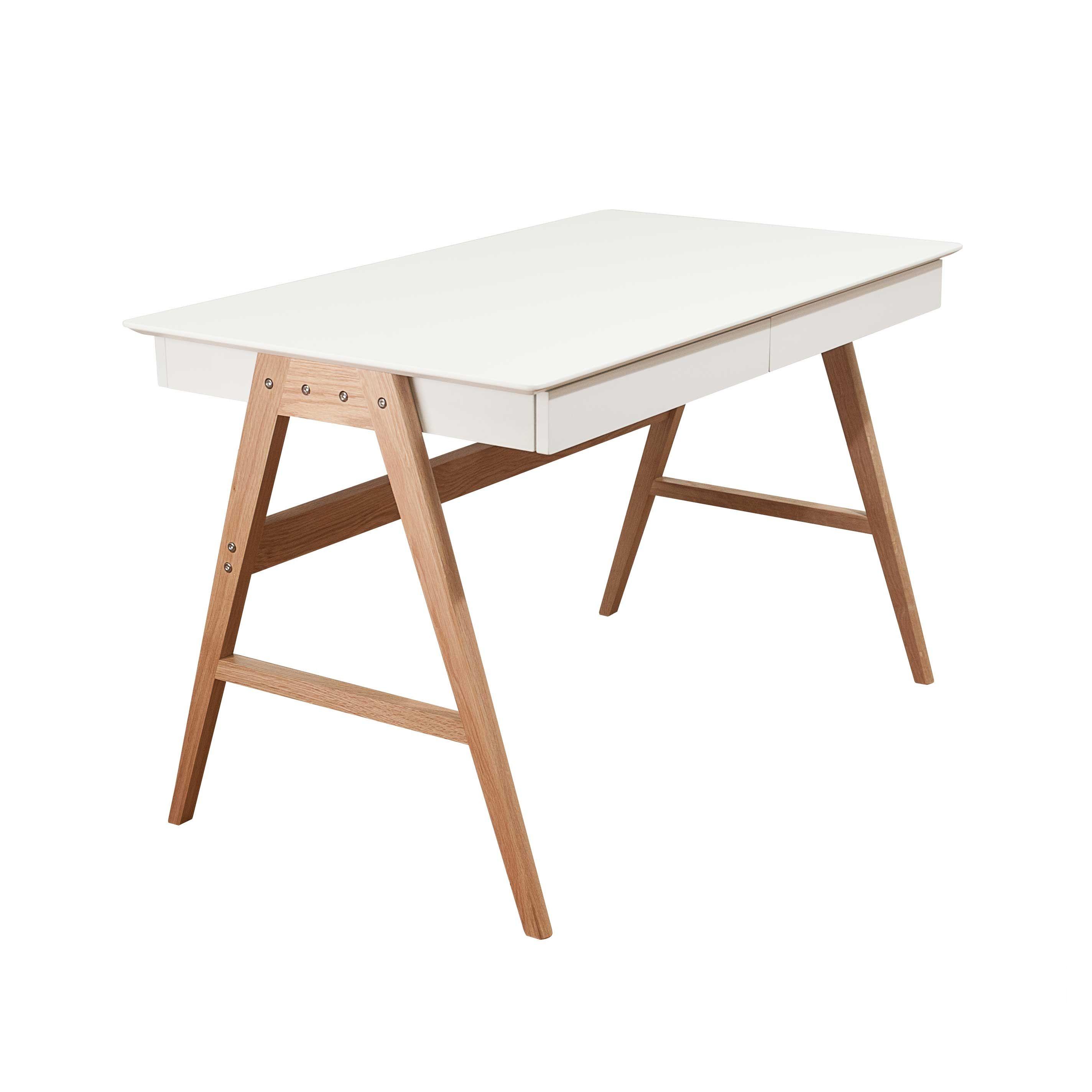 Vigo skrivebord (eik hvit) Dorothea.no | Møbler