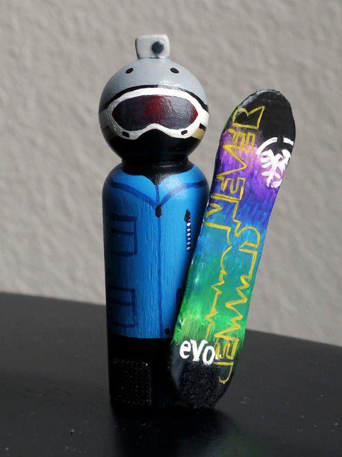 Snowboard Peg Doll