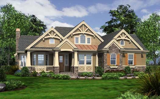 Cottage Style House Plans - 3020 Square Foot Home , 2 Story, 3