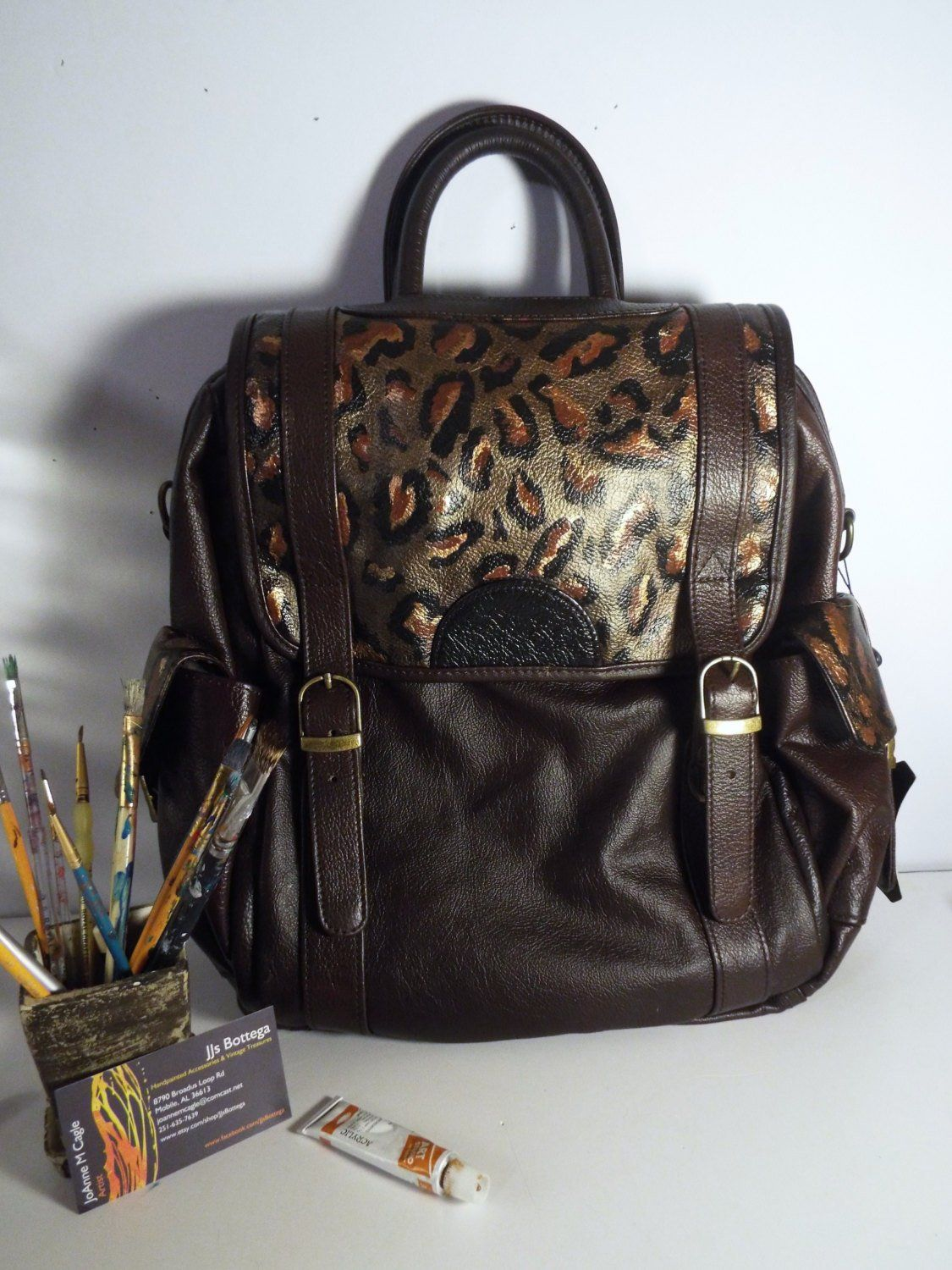 0a19265635aa Vintage Tooled Leather Handbag