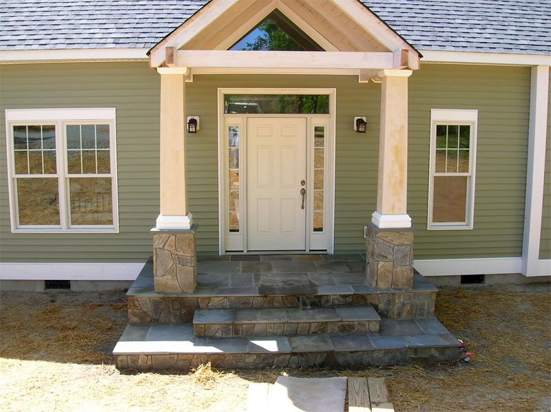 pictures of houses with new siding Green Siding and