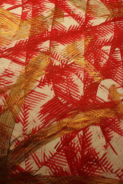 Papier Collant Marbre Red, Gold And White Paste Paper | Paper | Pinterest