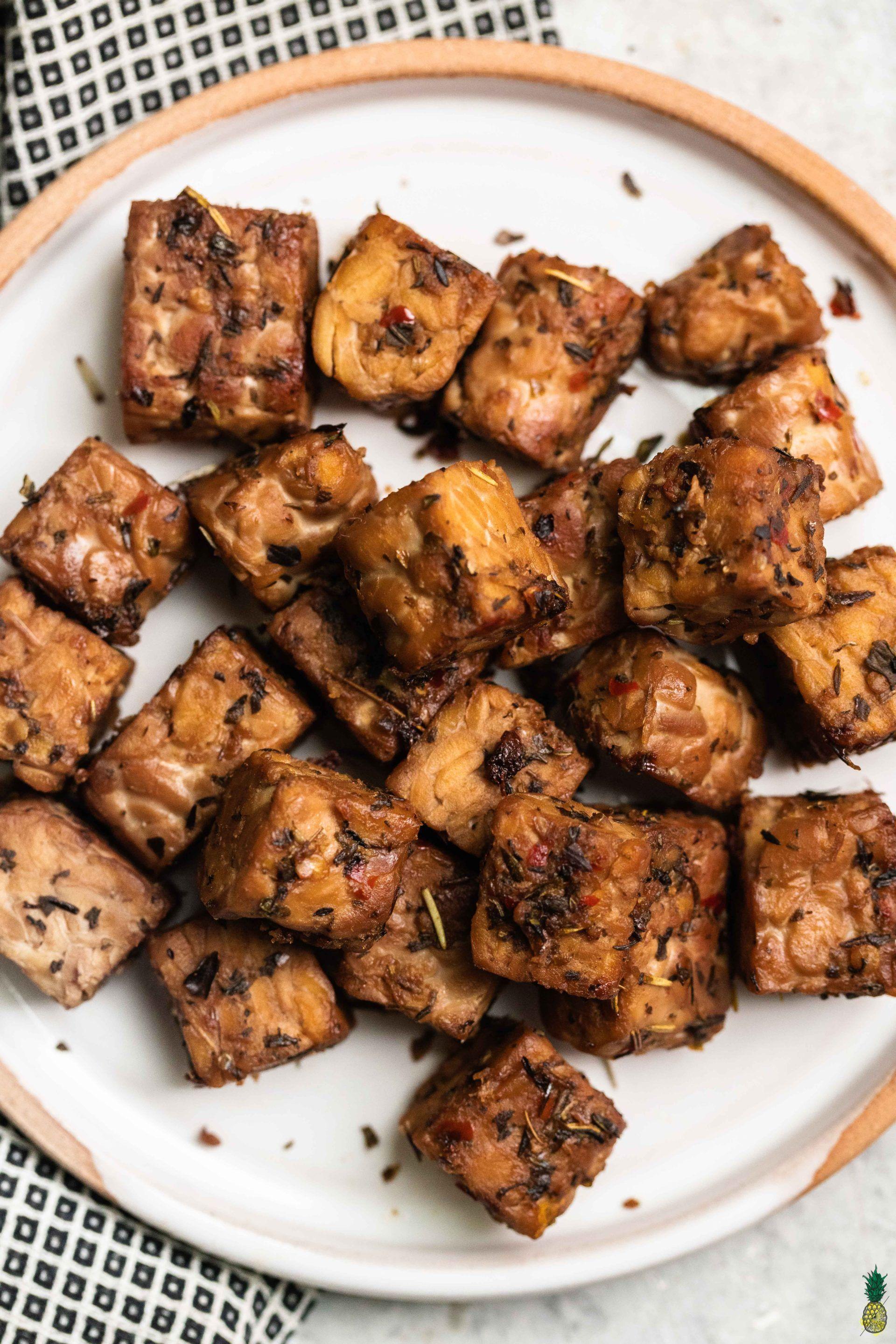 Easy italian seasoned tempeh 6ingredients glutenfree