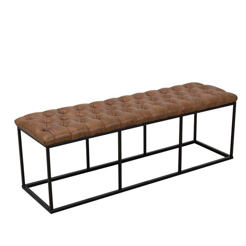 Thrapst Faux Leather Bench Leather Bench Bench Decor End Of