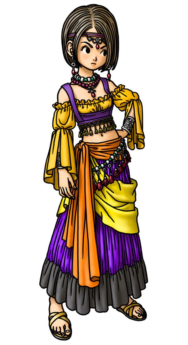 Minstrel Female Characters Art Dragon Quest Ix Dragon Quest 9 Dragon Quest Dragon Warrior