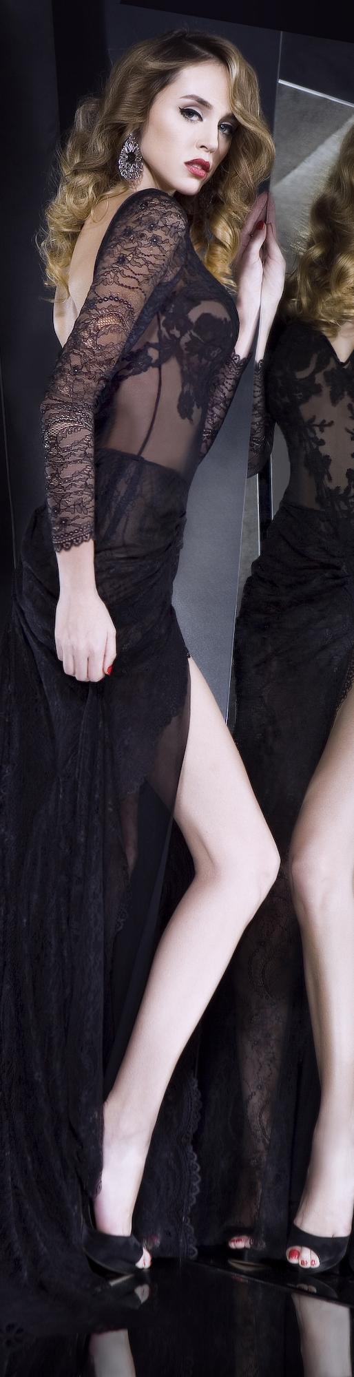 Rochie de seara gown #black #sexy #lace #elegant #dress