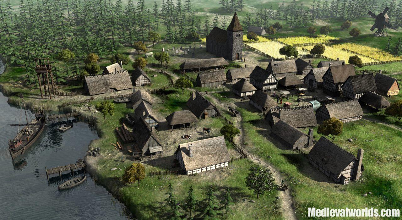 Medieval Village Fantasy Homes
