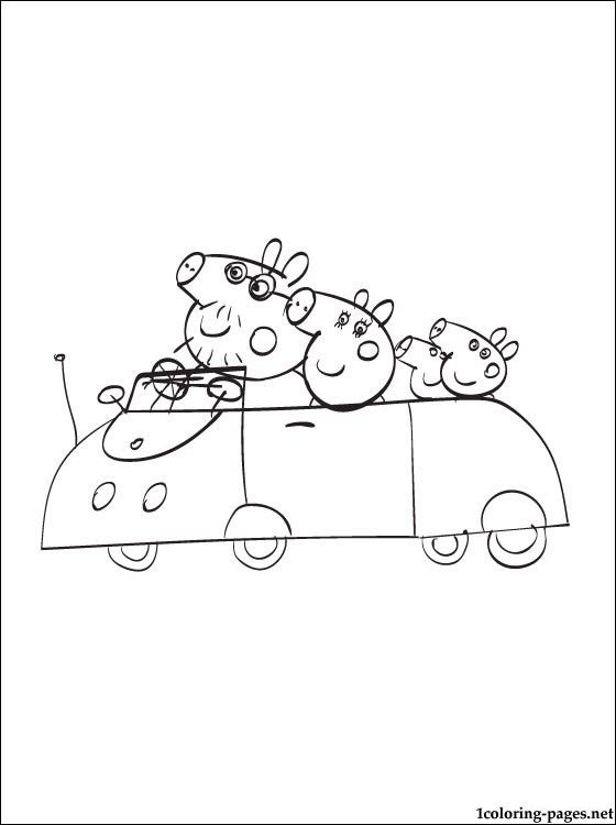 Peppa Pig Family - Nickelodeon Free Coloring Pages Pinterest - new free coloring pages for peppa pig