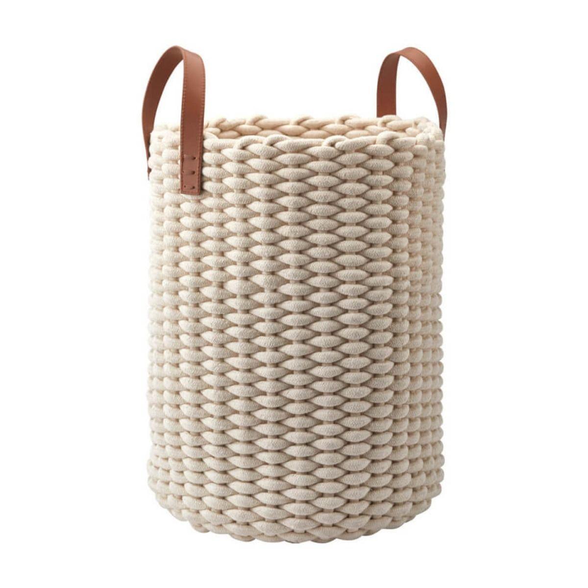 Wäschekorb mit Strickoptik Rudon
