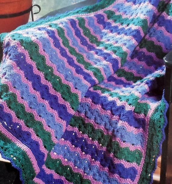 Country Spice Afghan Ripple Sensations crochet pattern