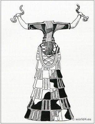 The Snake Goddess from Knossos  Priestess in Minoan Crete