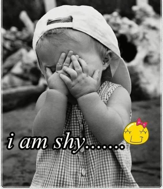 i am shy........ :-D