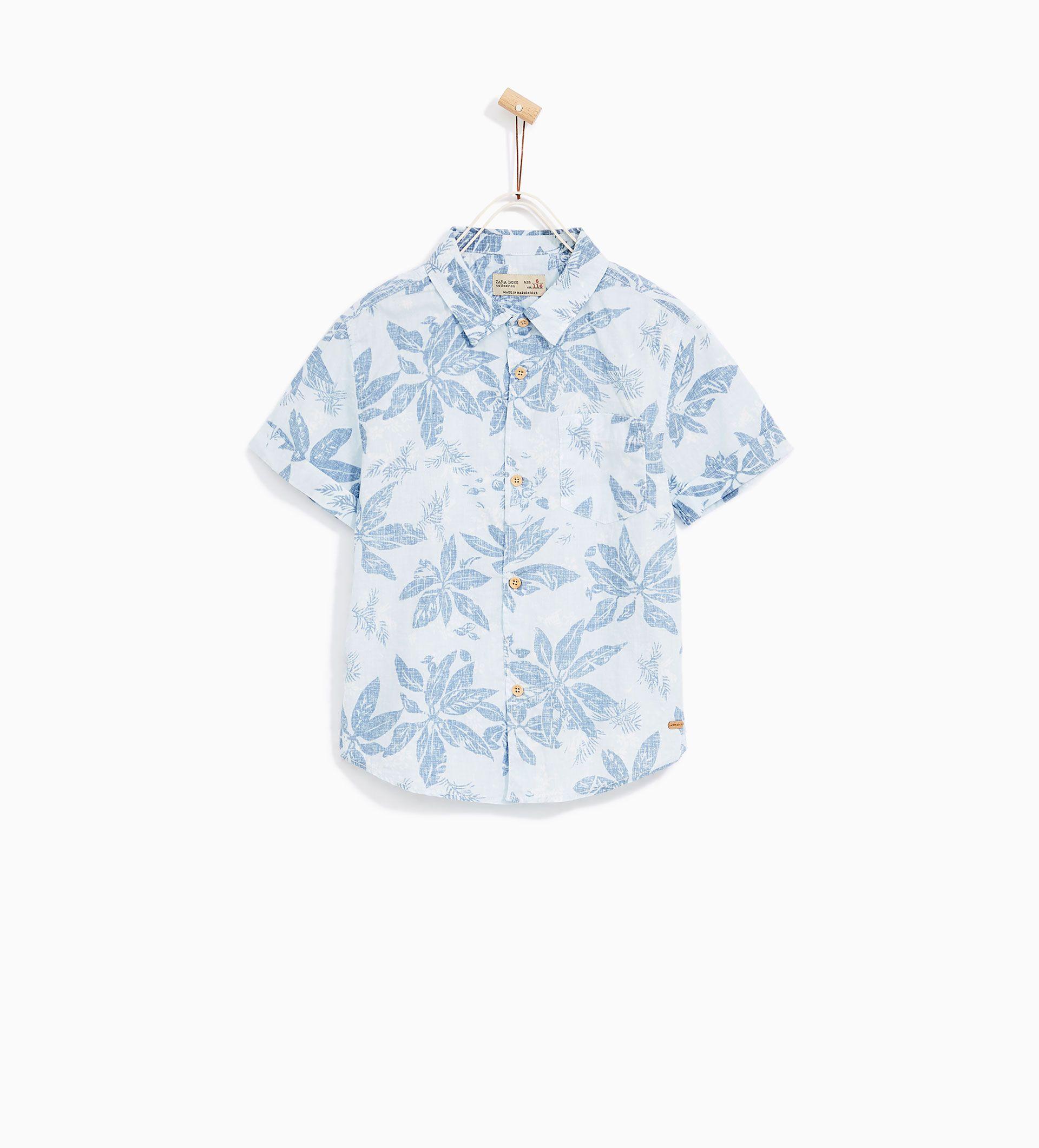3c591e3de ZARA - KIDS - FLORAL HAWAIIAN SHIRT | Kaydens wardrobe | Boys ...
