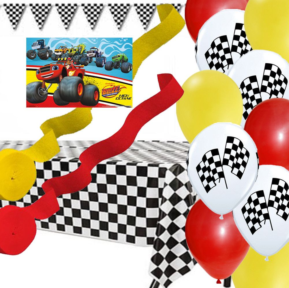 Blaze and the monster machines poster banner balloon for Balloon decoration machine