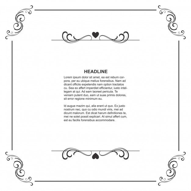 Floral frame template with space for text Free Vector | Frame ...