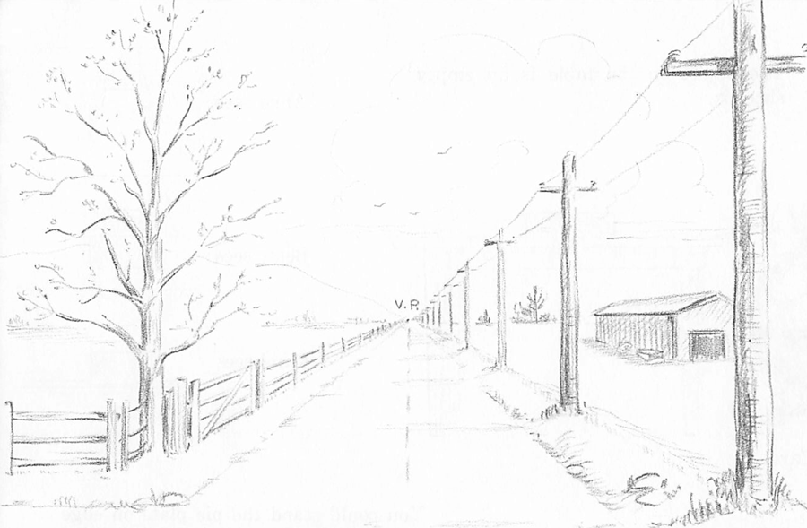 How To Draw Spring Landscape Scene In One Point Perspective Drawing Tutorial How To Draw Step By Step Drawing Tutorials Landscape Drawing Tutorial Perspective Drawing Landscape Drawings