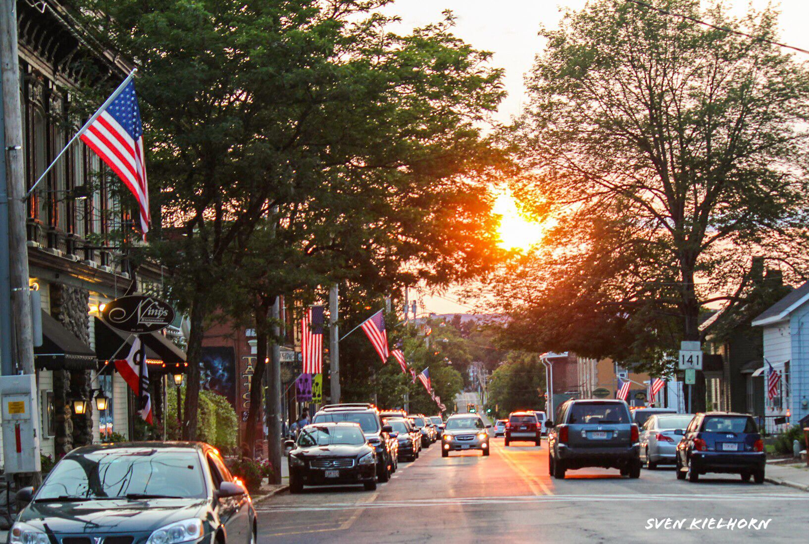 Another beautiful sunset on Cottage Street in Easthampton, MA