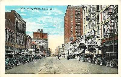 Dallas Texas Tx 1920s Town Elm Street Vaudeville Antique Vintage Postcard Moodys Vintage Postcards Vintage Postcard Dallas Texas Dallas