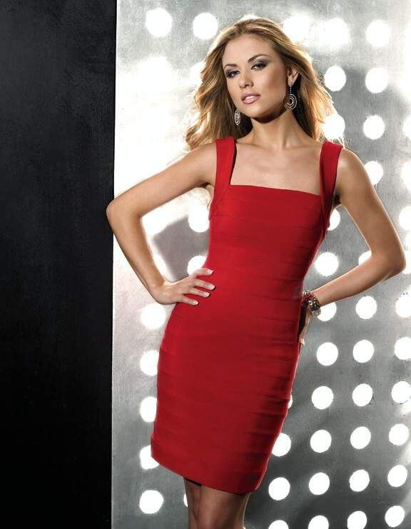 Red cocktail dress size 10