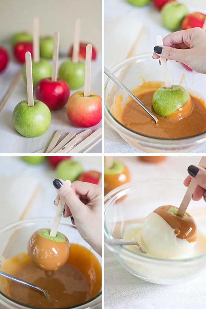 caramel apples recipe desserts pinterest caramel