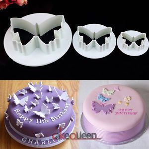 Cake Decorating Butterfly Fondant Sugarcraft Icing Plunger Cutter DIY Tool Mould