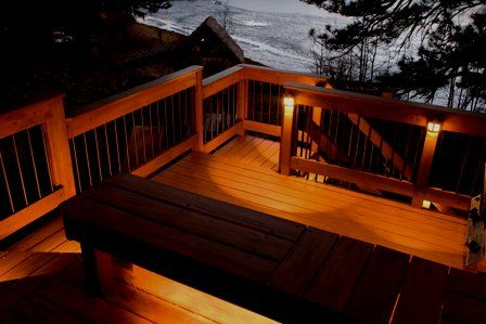 Pretty Deck Lighting For The Home Outdoor