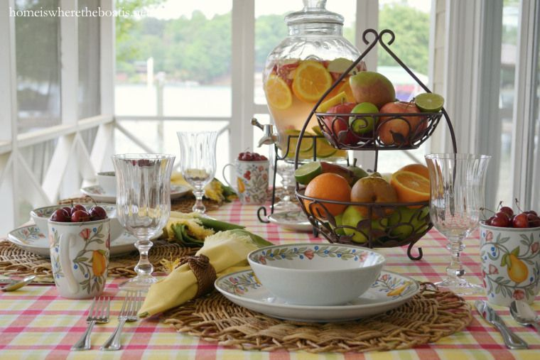 A Fruit-Bearing Table with Pfaltzgraff Orchard Grove | Orchards ...