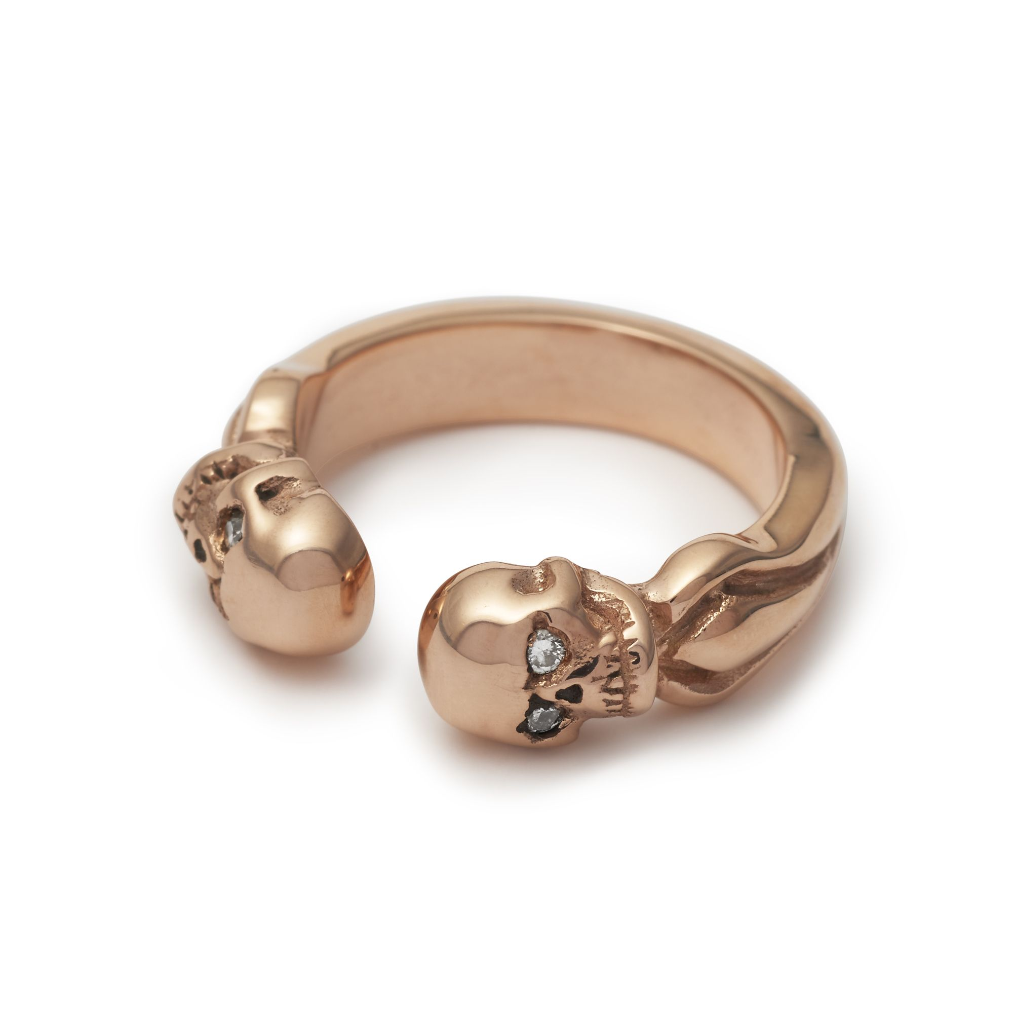 bd3b1ef168ffe The Great Frog custom 'Double Headed Skull' Ring, made in 9ct rose ...