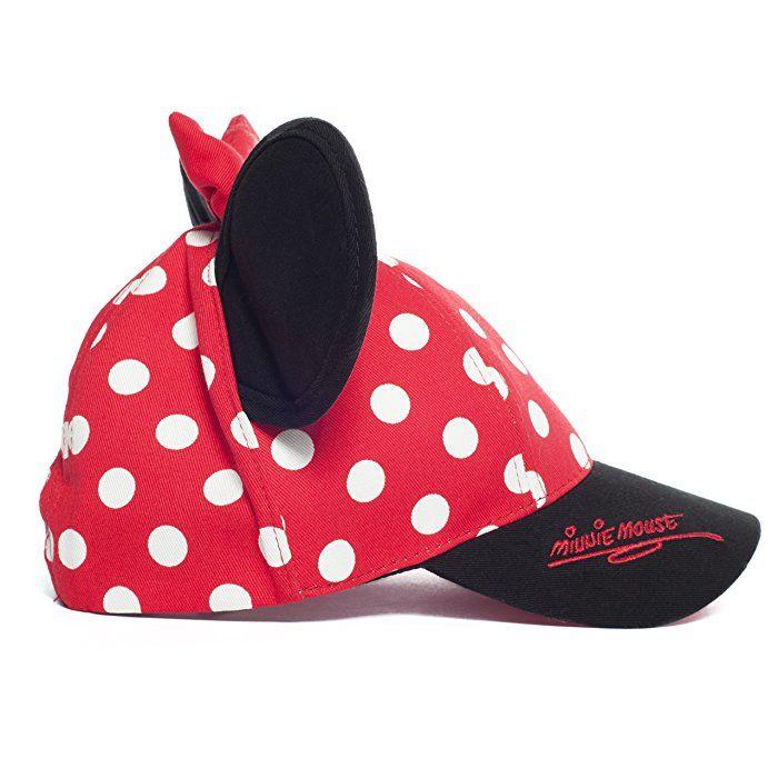 e18260c9c40 Walt Disney World Minnie Mouse Polka Dot Baseball Cap Hat Ears Youth Small  Adult