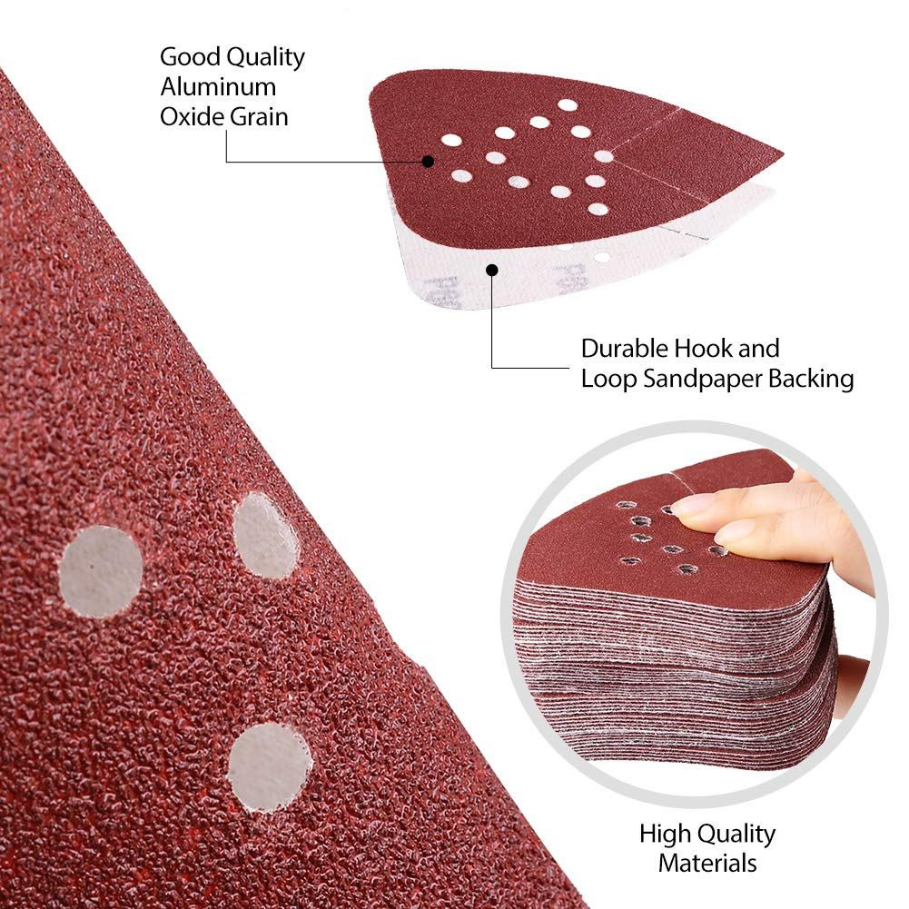 Sanding Pads For Black And Decker Mouse Sanders By Lotfancy 50pcs 60 80 120 150 220 Grit Mouse Sandpaper A How To Make Sand Vintage Style Decorating Kids Rugs