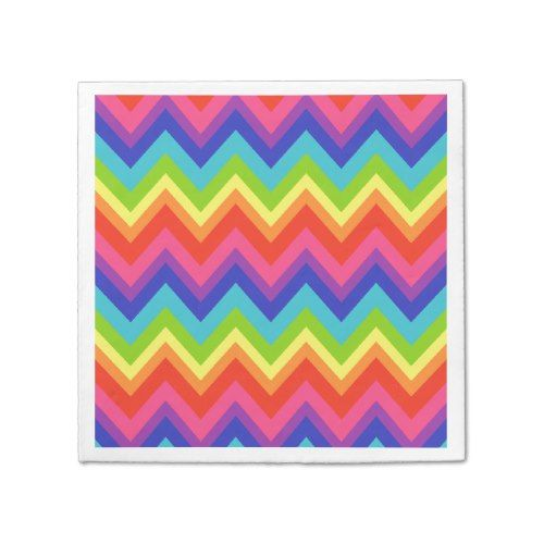 Bright Rainbow Birthday Party Celebration Napkins