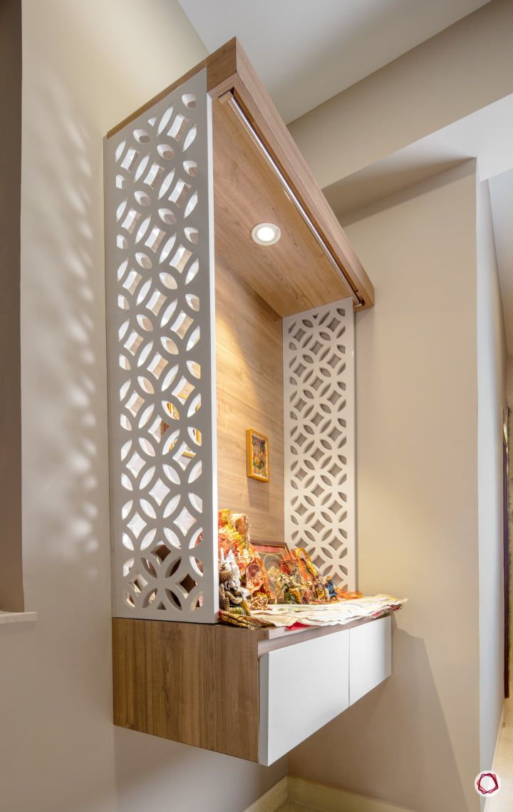 9 Traditional Pooja Room Door Designs In 2020: Pooja Units With Classic Cues In 2020