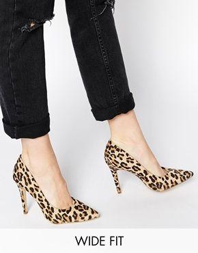 asos leopard heels