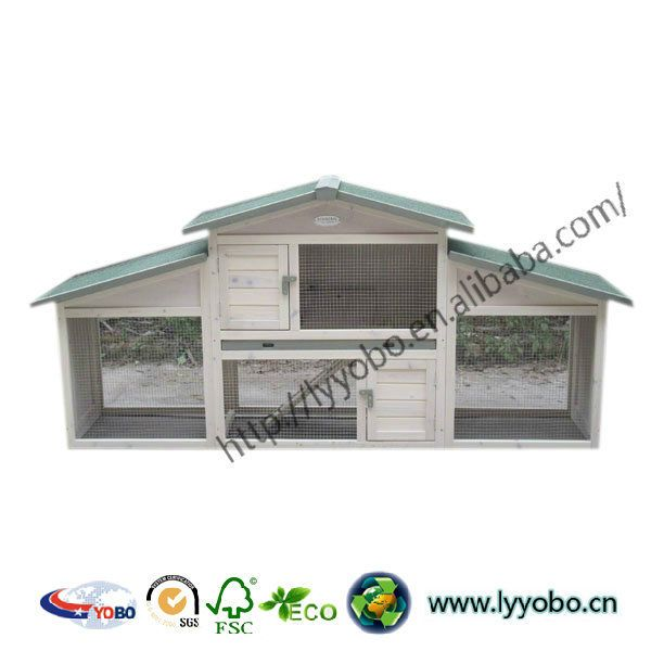 Wooden Rabbit Hutch Houses Design Outdoor With Beding Area Yb ...